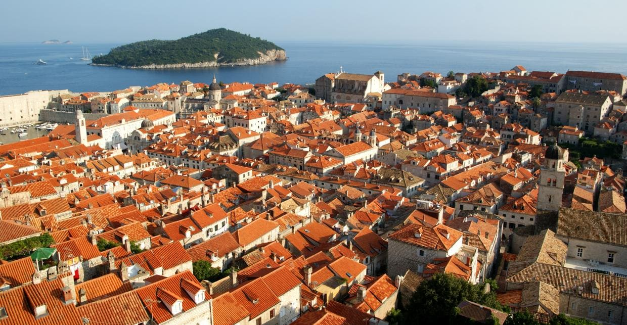 Dubrovnik is a pearl the Adriatic the Coast of Croatia