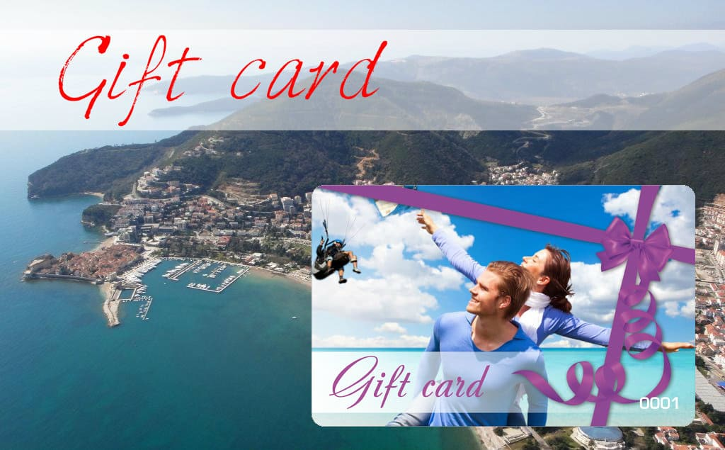 Paragliding Gift Card in Montenegro