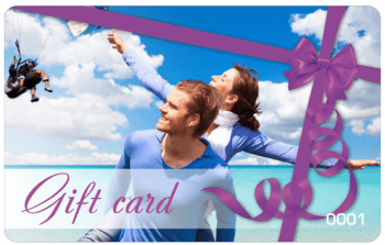 Paragliding tandem flight - gift card