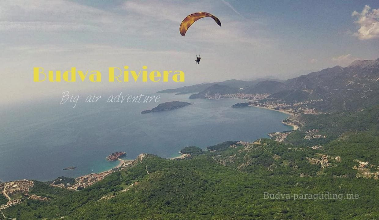 Paragliding tandems flights with instructor Budva, Montenegro