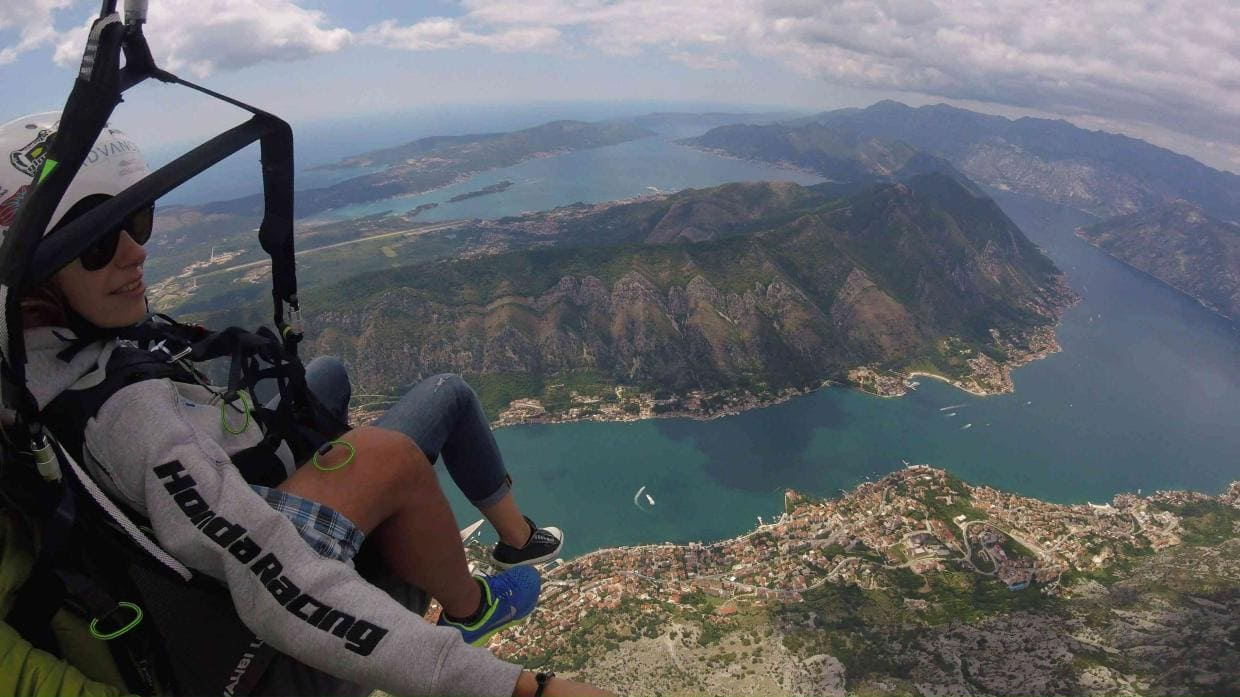 Great paragliding adventure in Kotor Montenegro
