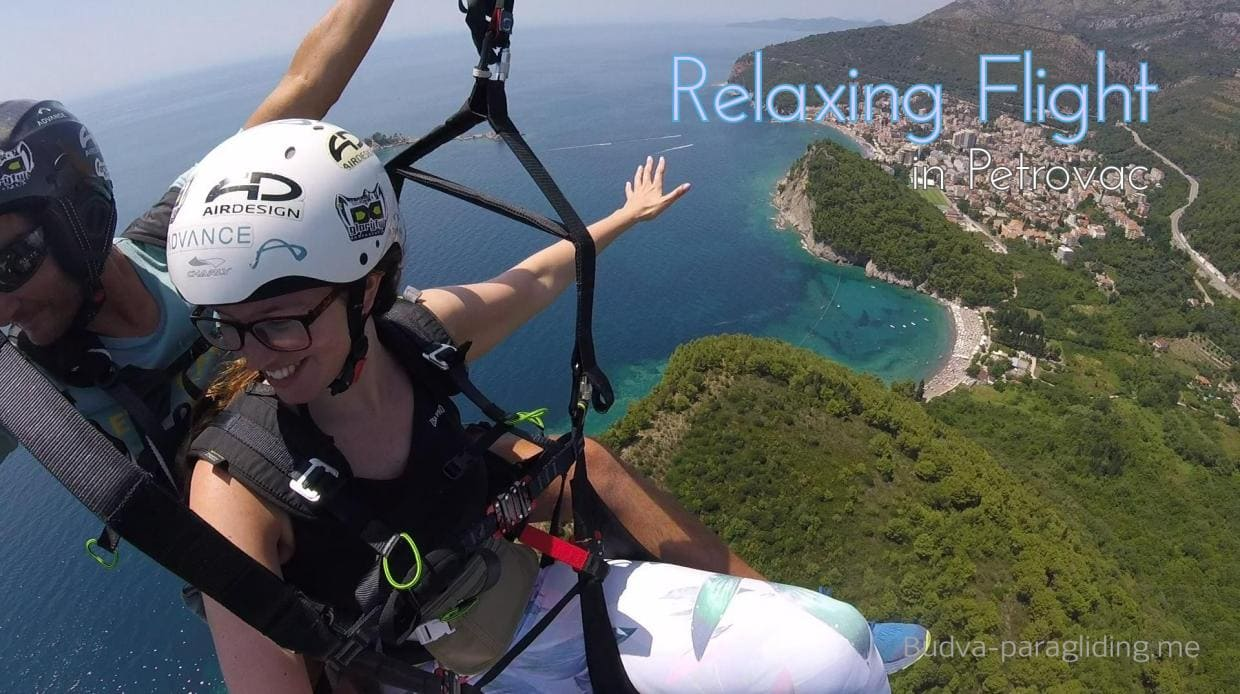 Exclusive relaxing paragliding in Petrovac